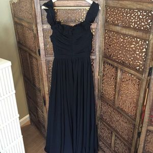 NEW NBD Ruffle Black Gown S